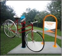 Bike Rack at Goodhue Pioneer State Trail