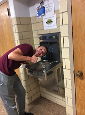 Water Fountain at Zumbrota Mazeppa School